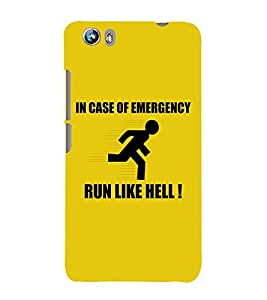 EPICCASE Run like hell Mobile Back Case Cover For Micromax Canvas Fire 4 A107 (Designer Case)