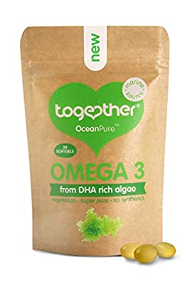 Together Omega 3 DHA Rich Algae Oil Softgels - Pack of 30 Softgels