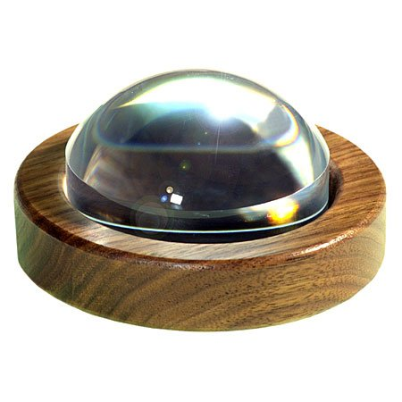 89mm Magnabrite® Light Gathering Magnifier with Round Walnut Base