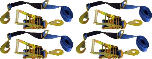 4 Axle Straps Car Carrier Tie Down Straps with Ratchets Tow Straps