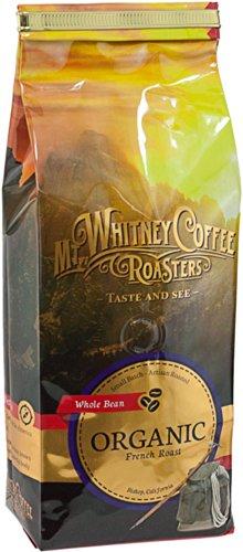 Mt. Whitney Coffee Roasters: 12 Oz, Usda Certified Organic French Roast, Dark Roast, Whole Bean Coffee