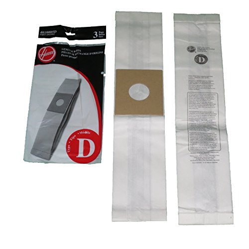 Hoover Genuine Type D Upright Vacuum Cleaner Bags: 6 Bags (Hoover D Bags compare prices)