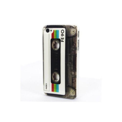 gadget geek - coque haute qualite cassette audio pour apple iphone