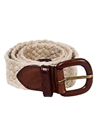 American Apparel Unisex Jute and Leather Belt