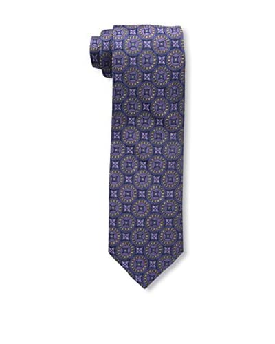 Bruno Piattelli Men's Circle Medallion Tie, Purple