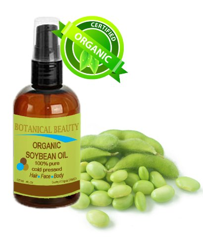 Botanical Beauty Soybean Oil, 100% Pure, Cold Pressed.. For Face, Hair And Body. 4 Oz-120 Ml
