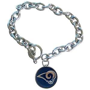 nfl st louis rams charm bracelet sports