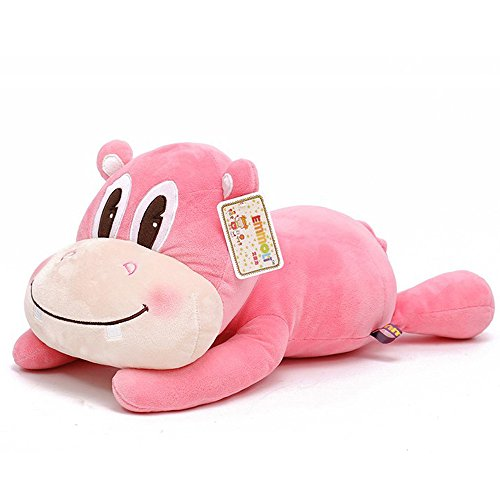 Eonkoo Lovely Pink/Blue Lying posture hippo Plush doll for baby Kids Gift,High Quatily Soft Plush Stuffed Toy (19.7 inch)