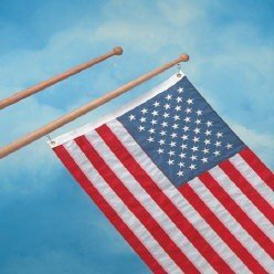 "Spinning Flag Pole Size: 48"" x 1.25"""