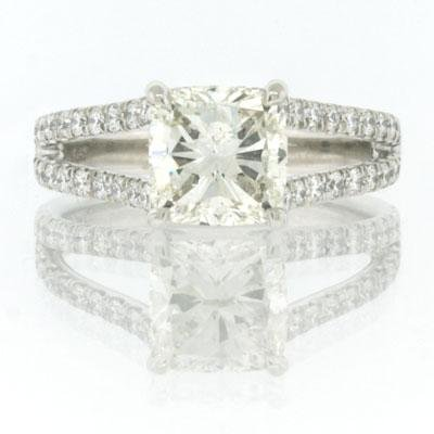 2.80ct Cushion Cut Diamond Engagement Anniversary