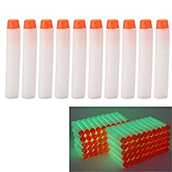 kmida 100 Pcs 7.2cm Foam Darts for Nerf N-strike Elite Series Blasters Toy Gun - Fluorescence