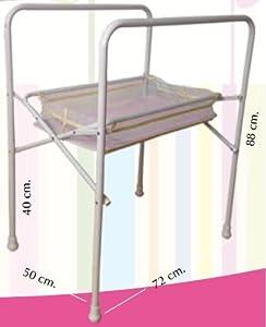 Cubeta antideslizante para bebés + patas metálicas. Bañeras para bebé anatómica marca TORAL BEBE SL