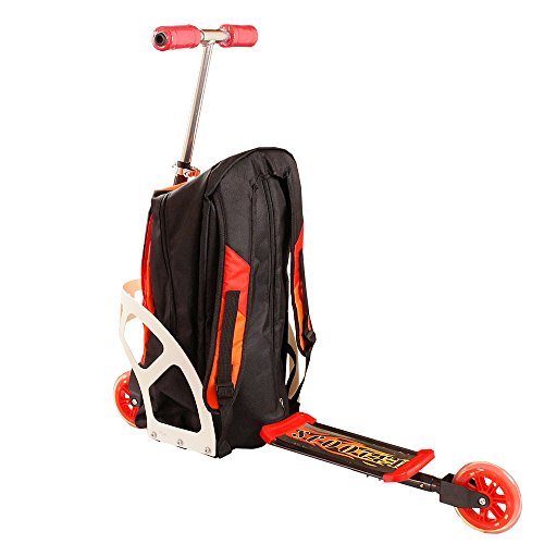リュック付きキックボード!リュックサックとキックボードが一緒になったカジュアルモダンな移動手段!アウトドア・旅行や通学に☆(バックパック&ボード)