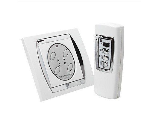 Bw 4 Channel Digital Wireless Remote Control Switch With Elegant Design - White front-528476