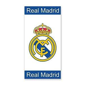 Amazon.com : Real Madrid velours printed towel logo 100% cotton 75 x