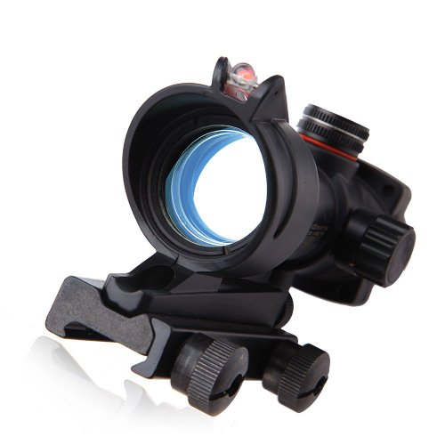 Outdoor Hd-2C Airsoft Tactical Red And Green Point Dot Sight Rifle Scope With Fiber Cable