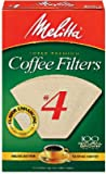 Melitta 624602 100-Count #4 Natural Brown Cone Coffee Filters