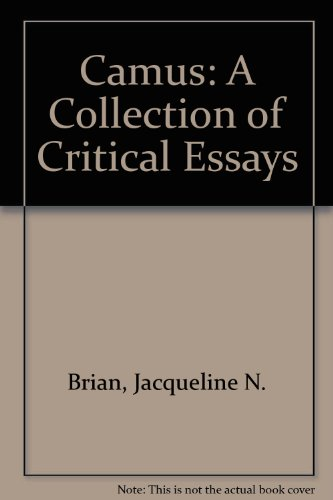 Camus a Collection of Critical Essays