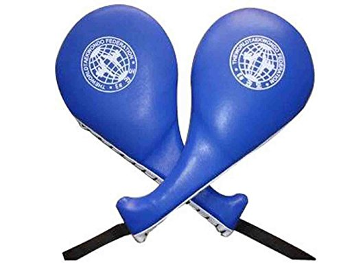 Yosoo®Pack of 2 Taekwondo Durable Kick Pad Target Tae Kwon Do Karate Kickboxing Training (Blue) (Boxing Training Target compare prices)