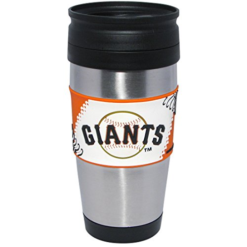 mlb-san-francisco-giants-stainless-steel-travel-tumbler-with-pvc-wrap-15-ounce-team-color