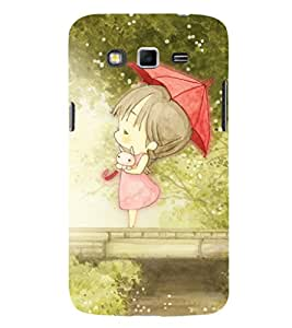 EPICCASE cute girl in umberalla Mobile Back Case Cover For Samsung Galaxy Grand 2 (Designer Case)