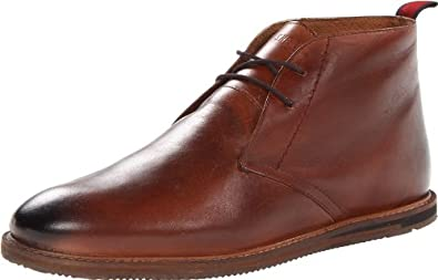 Ben Sherman Men's Aberdeen Leather Chukka,Brown,42 EU/9 - 9.5 M US