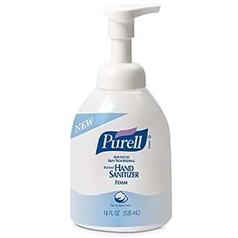 PURELL 5798-04 Advanced Skin Nourishing Instant Hand Sanitizer Foam, 535 mL Pump Bottle (Case of 4)