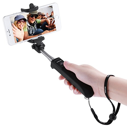 Best Deals! Poweradd 2nd Gen Bluetooth Selfie Stick Self-portrait Monopod with Built-in Remote Shutt...