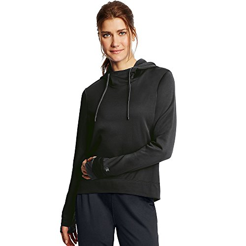 Champion Women's Tech Fleece Pullover Hoodie_Black_L