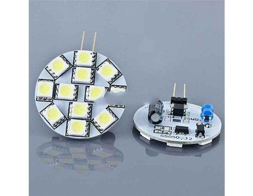 2Pcs 12V 1.8W G4 12Led 5050 White Light Home Spotlight Spot Light Bulbs