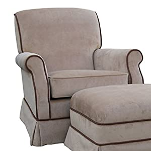 Angel Song Classic Velvet - Brown Club Adult Rocker Glider Chair - Foam Filled