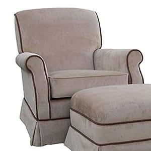 Angel Song Classic Velvet - Brown Club Adult Rocker Glider Chair - Foam Filled