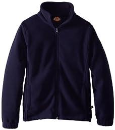 Dickies Big Boys\' Polar Fleece Zip Jacket, Eclipse, Small (7/8)