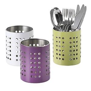 Axentia 291622 pot range couverts en inox 10 cm amazon for Pot a couverts cuisine