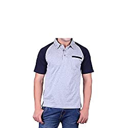 Vivid Bharti Mens Cotton T-Shirt (ri53_Grey_XXXXX-Large)