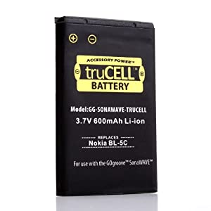 truCELL Rechargeable 600mAh Replacement Battery for GOgroove SonaWAVE Speaker System by Accessory Power