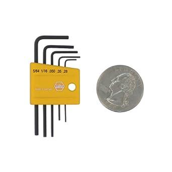 Wiha 35393  Mini Inch Hex L-Key Set, 5 Piece in Plastic Holder