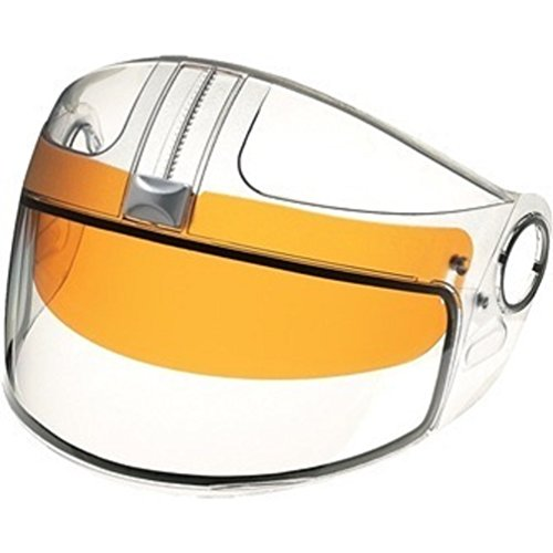 Ski-Doo EXO/GS-2/TS-1 Snowmobile Helmet Electric Heated Face Shield Visor w/ Amber Sun Visor 4473000000 (Modular 2 Helmet Shield compare prices)
