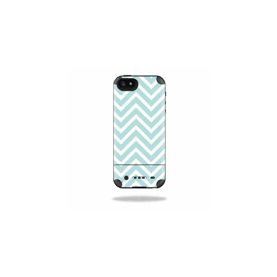MightySkins Protective Vinyl Skin Decal Cover for Mophie Juice Pack Air iPhone 5 Apple iPhone 5 Battery Case Sticker Skins Aqua Chevron Cell Phones & Accessories