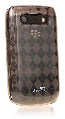 Dragonfly Britain Silicone Skin Case For Blackberry Bold Onyx 9700 ( Smoke )