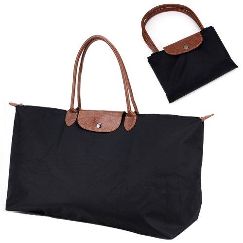 Bolsos al hombro para Mujer Color Negro de Nalion Talla Grande con Asa Larga de 47 cm