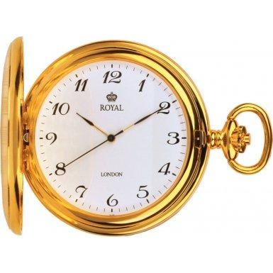 Royal London Pocket Watch 90020-02 Gold Plated Full Hunter