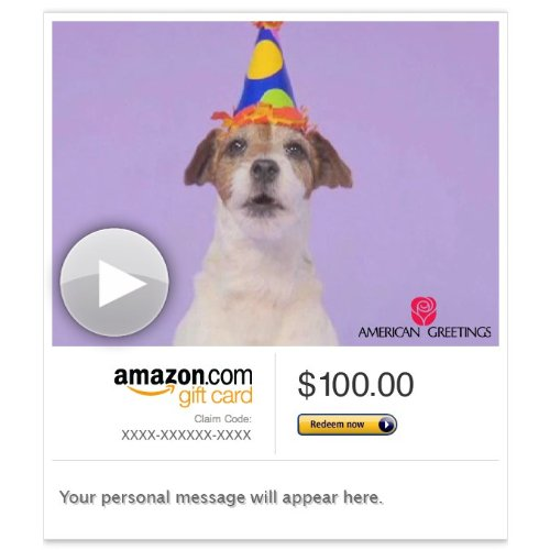 Amazon Gift Card - Email - Woofy Birthday (Animated) [American Greetings]