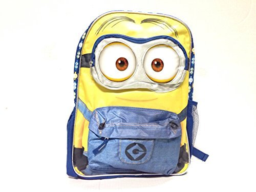 Despicable-Me-Minions-3d-Eyes-16-Inches-Backpack-with-Lunch-Bag