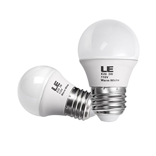Le 3W G14 E26 Led Bulb, Equal To 25W Incandescent Bulb, Warm White,Pack Of 2 Units