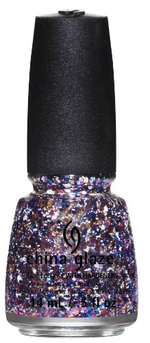 China Glaze 81395 Your Present Required Smalto per Unghie con Indurente, 14 ml, Effetto Glitter