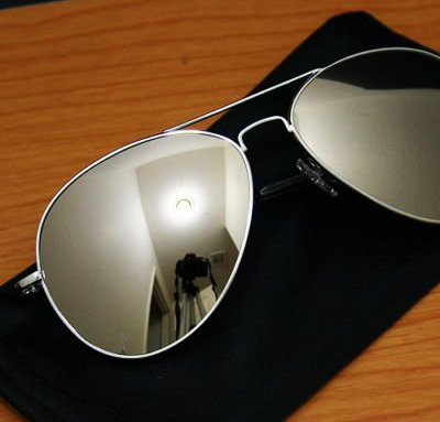 New (Unisex Mens Ladies) Silver/Mirror Aviator Sunglasses