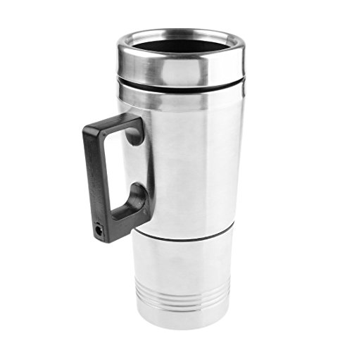 Heating Cup, PeleusTech 12V Car Cigarette Lighter Heating Cup Kettle Vacuum Insulated Stainless Steel Water Heater Mug (Water Kettle Car compare prices)