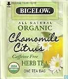 Bigelow All Natural Organic Chamomile Citrus Herb Tea, 60 Count