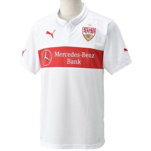 (プーマ)PUMA サッカー VfBシュトゥットガルト ホーム SS レプリカシャツ 746057 [メンズ] 01 ホワイト/チームリーガルレッド L